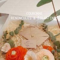 COURONNE RENONCULES & ÉGLANTINES